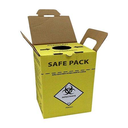 Coletor Material Perfuro Cortante Safe Pack 7 Litros