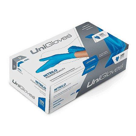 Luva Nitrilo Unigloves Blue G Caixa 100 Unidades