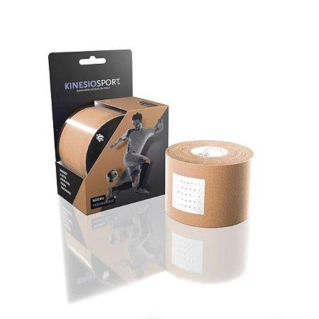 Bandagem Elastica Adesiva KinesioSport KS-002 5.0cm X 5.0m - Bege