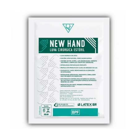 Luva Cirurgica New Hand Esteril 6,5 - Latex Br