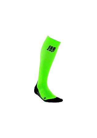 Meia Cep Progressive Run Feminina Verde Neon