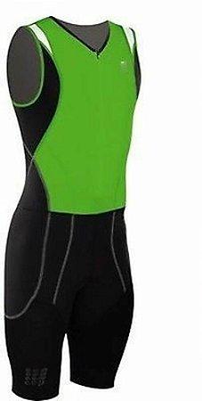 Macaquinho Cep Compression Skinsuit Masculino Preto e Verde