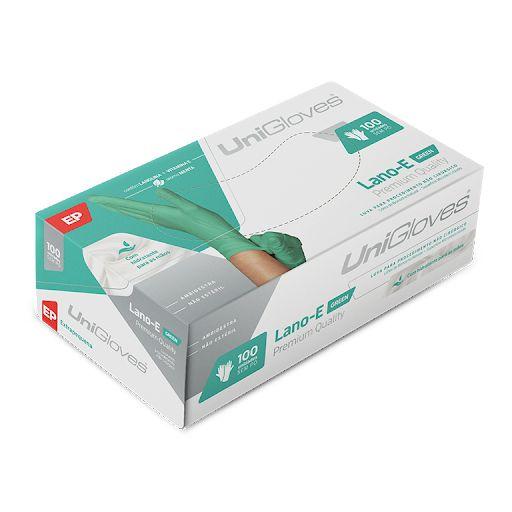 Luva De Procedimento Não Cirúrgico Lano-E Green Unigloves