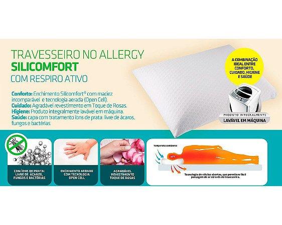 Travesseiro No Allergy Silicomfort Alto Fibrasca