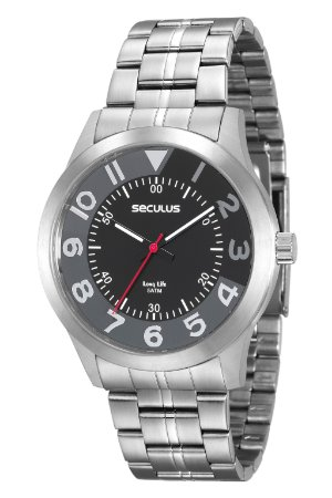 56d078f5721 Relógio Seculus Masculino Analógico Prata 20502G0SVNA1