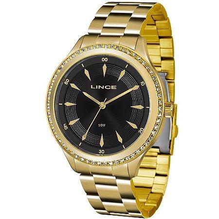 Relógio Lince Feminino Analógico Dourado LRG4427LP1KX