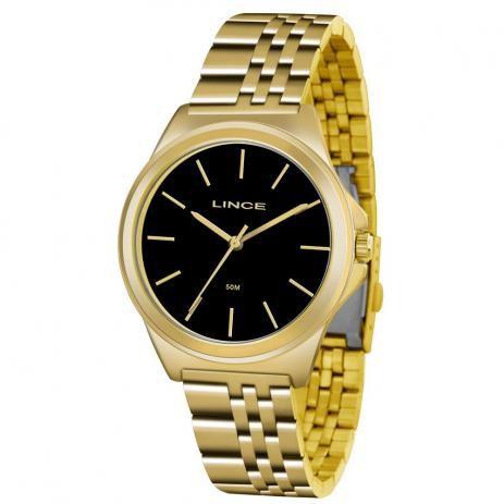 Relógio Lince Feminino Analógico Dourado LRG4428LP1KX