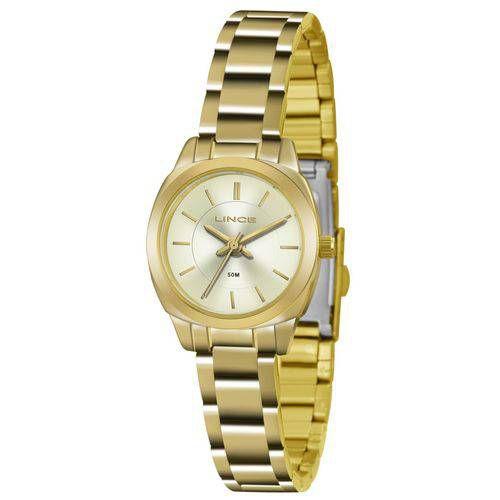 Relógio Feminino Lince Analógico Dourado LRG4436LC1kx