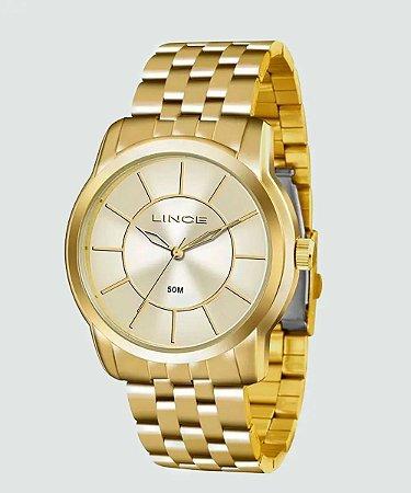 Relógio Lince Feminino Analógico Dourado LRG4510LD1KX