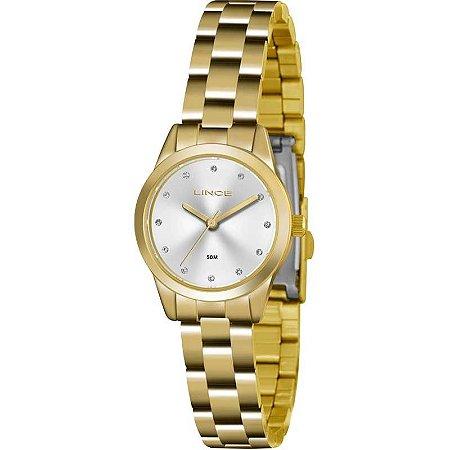 Relógio Lince Feminino Analógico Dourado LRG4435LS1KX