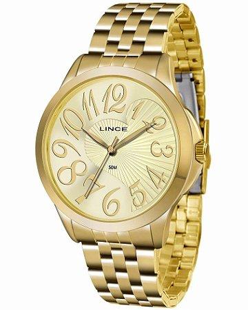 Relógio Lince Feminino Analógico Dourado LRG609LC2KX