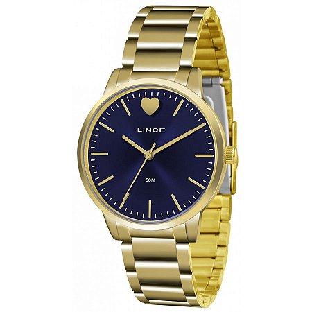 Relógio Lince Feminino Analógico Dourado LRG611LD1KX