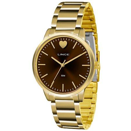 Relógio Lince Feminino Analógico Dourado LRG611LN1KX
