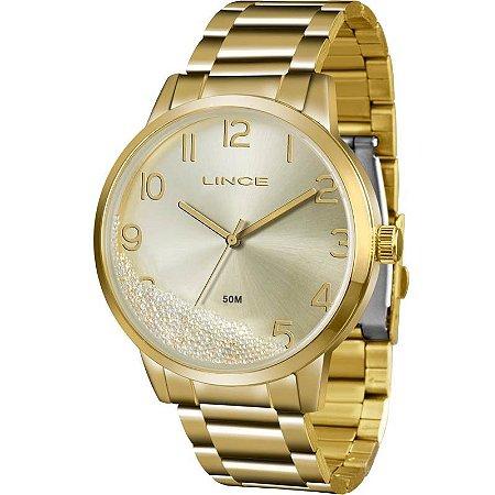 Relógio Lince Feminino Analógico Dourado LRG4379LC2KX
