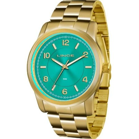 Relógio Lince Feminino Analógico Dourado LRGJ066LA2KX