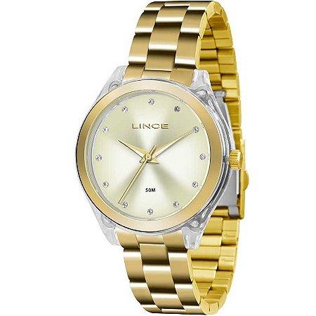 Relógio Lince Feminino Analógico Dourado LRG4431PC1KX