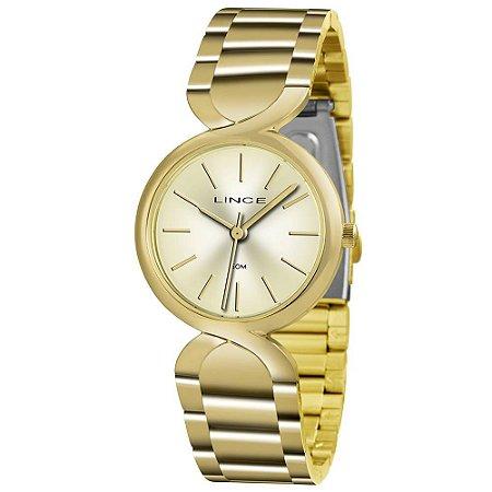 Relógio Lince Feminino Analógico Dourado LRGH048LC1KX