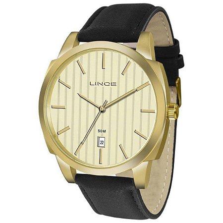 Relógio Masculino Lince Analógico Dourado MRC4462SC1PX