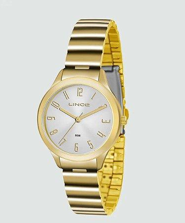Relógio Lince Feminino Analógico Dourado LRG4507LS2KX
