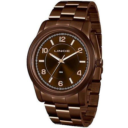 Relógio Lince Feminino Analógico Chocolate LRBJ066L N2NX