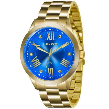 Relógio Lince Feminino Analógico Dourado LRGJ046LA3KX