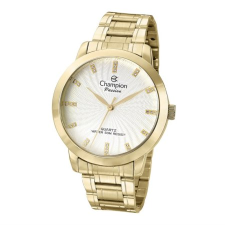 Relógio Champion Elegance Feminino Dourado CN29276H