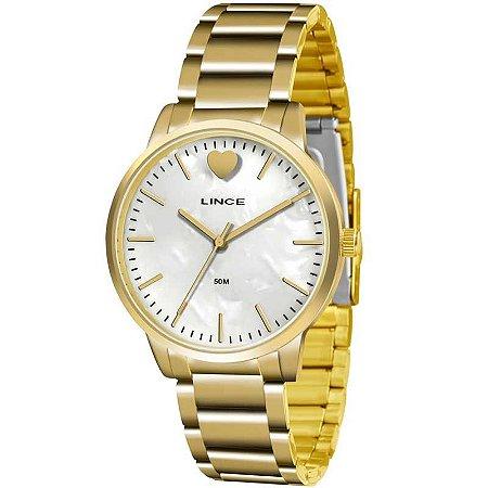 Relógio Lince Feminino Analógico Dourado LRG611LB1KX