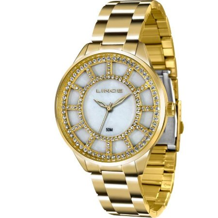 Relógio Lince Feminino Analógico Dourado LRG4378LB1KX