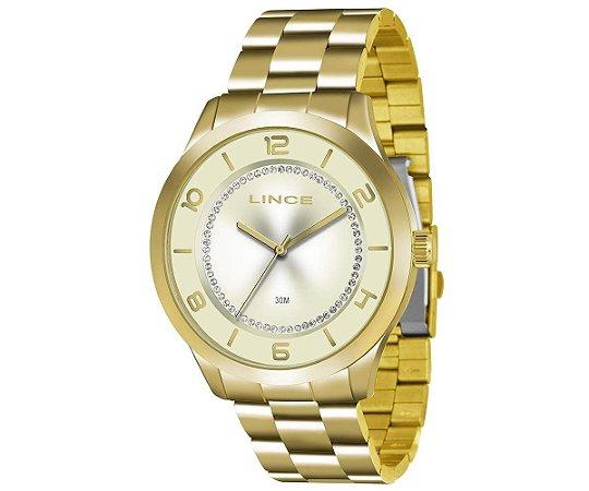 Relógio Lince Feminino Analógico Dourado LRG4346LC2KX