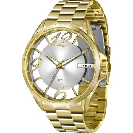 0441c30d335 Relógio Lince Feminino Analógico Dourado LRG604LS2KX - Estrela Joias ...