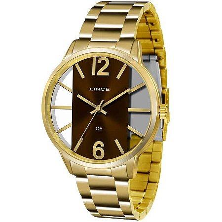 Relógio Lince Feminino Analógico Dourado LRG608LN2KX