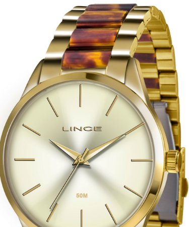 Relógio Lince Feminino Analógico Dourado LRT4381LC1NK
