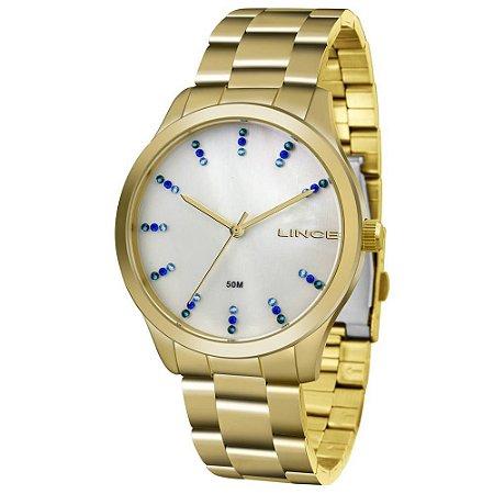 92b7ddd7a43 Relógio Lince Feminino Analógico Dourado LRG4445LB1KX - Estrela ...