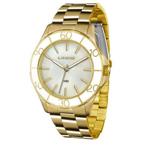 Relógio Lince Feminino Analógico Dourado LRGJ067LB1KX