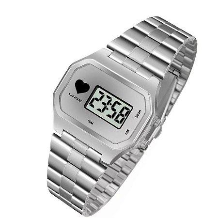 132065b8ee0 Relógio Lince Feminino Digital Prata SDM4480LBSSX - Estrela Joias ...