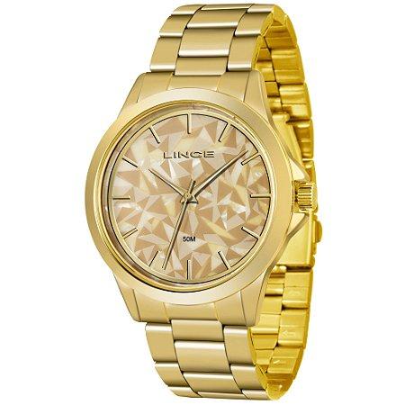 Relógio Lince Feminino Analógico Dourado LRGJ072LC1KX