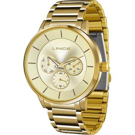 Relógio Lince Feminino Analógico/Cronográfo Dourado LMGJ054LC1KX