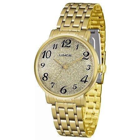 Relógio Lince Feminino Analógico Dourado LRG614LC2KX