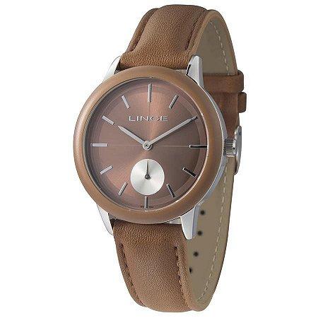 Relógio Lince Feminino Analógico Couro LRC4532LN1NX