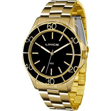 Relógio Lince Feminino Analógico Dourado LRGJ067LP1KX