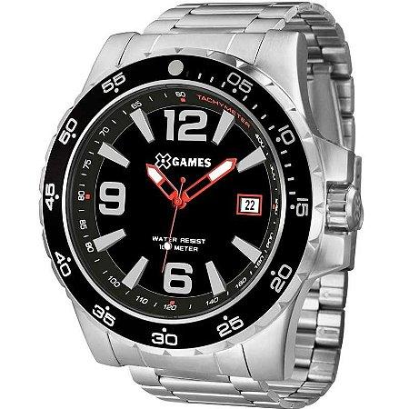 Relógio X-Games Masculino Analógico Prata XMSS1043P2SX