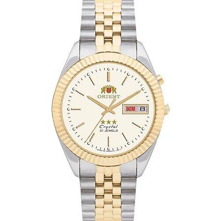Relógio Orient Masculino Automático Bicolor 469ED1S1KS
