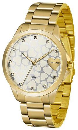 Relógio Lince Feminino Analógico Dourado LRGJ073LS1KX