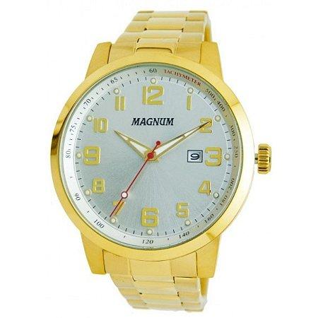 d29030ca88d Relógio Magnum Masculino Analógico Dourado MA32925H - Estrela Joias ...