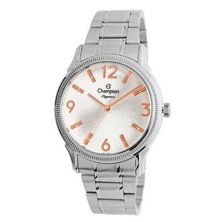 Relógio Champion Feminino Analógico Prateado CN25832Q