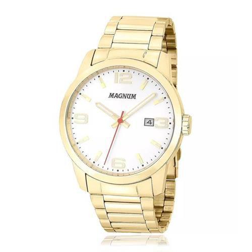 Relógio Magnum Masculino Analógico Dourado MA33595H