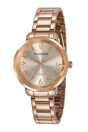 Relógio Mondaine Feminino Analógico Rosé 53657LPMVRE2