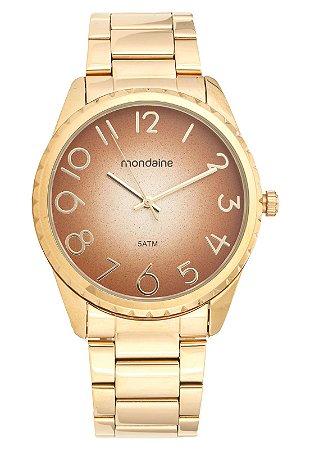 Relógio Mondaine Feminino Analógico Dourado 99008LPMVDE1K1 - Estrela ... eaaf3edb76