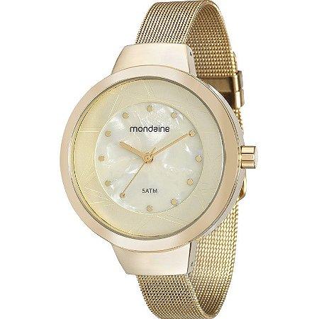 b60894436d72e Relógio Mondaine Feminino Analógico Dourado 99052LPMVDE2 - Estrela ...