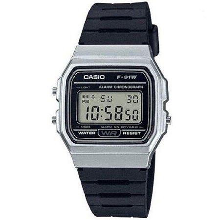 Relógio Casio Masculino Digital Preto F91WM7ADF